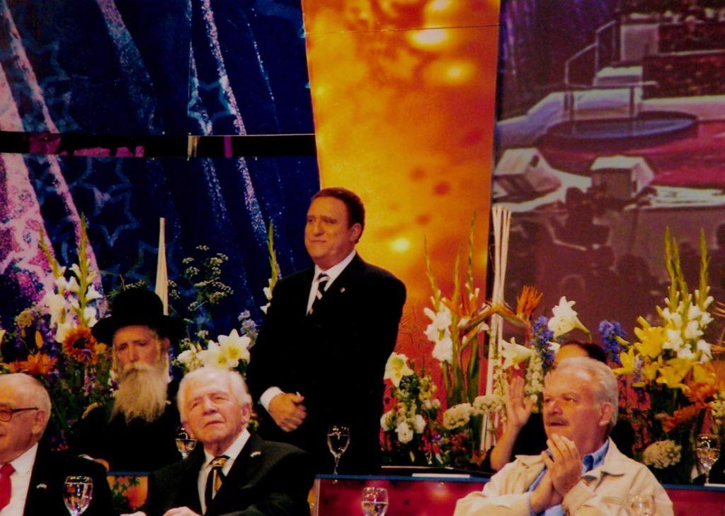 יהורם גאון בקבלת פרס ישראל